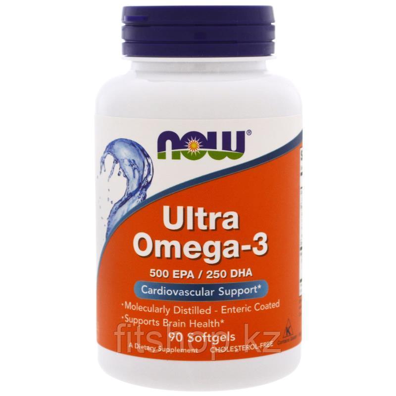 Now Foods Ultra Omega-3, 90 капсул, 500 ЭПК/250 ДГК в 1 капсуле