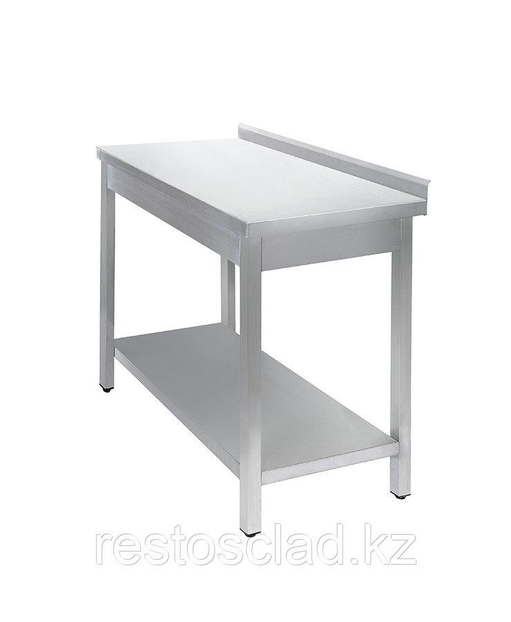 Стол универсальный Luxstahl СПУ-13/6 со сплошной полкой нерж
