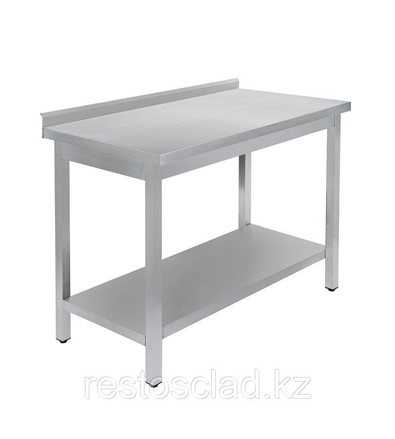 Стол универсальный Luxstahl СПУ- 20/6 со сплошной полкой нерж
