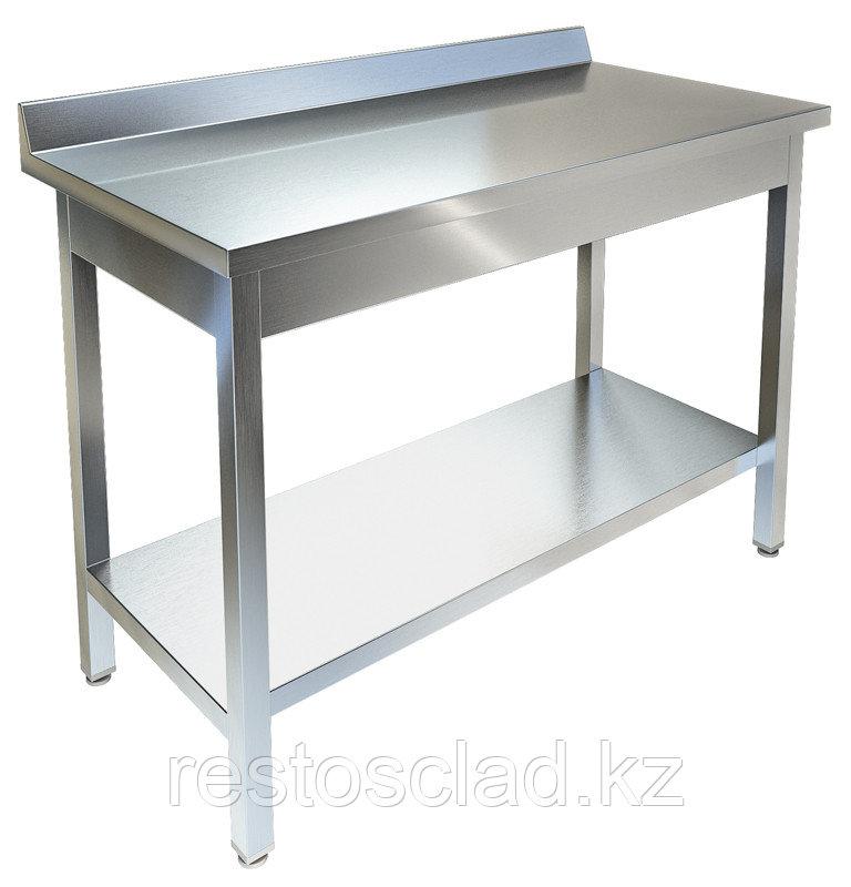 Стол производственный пристенный ТЕХНО-ТТ СПП-933/808 нерж