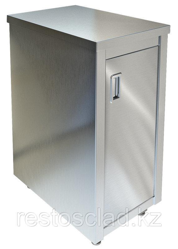 Стол-тумба островной ТЕХНО-ТТ СПС-834/408 нерж (дверь распашная)