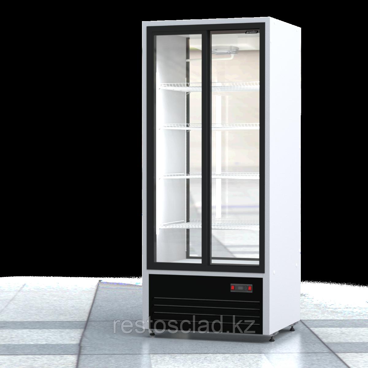 Шкаф холодильный ПРЕМЬЕР ШВУП1ТУ-0,75К2 (двери-купе, остекление с двух сторон)