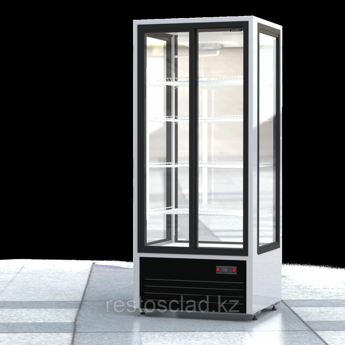Шкаф холодильный ПРЕМЬЕР ШВУП1ТУ-0,75К4 (двери-купе, остекление с четырех сторон)
