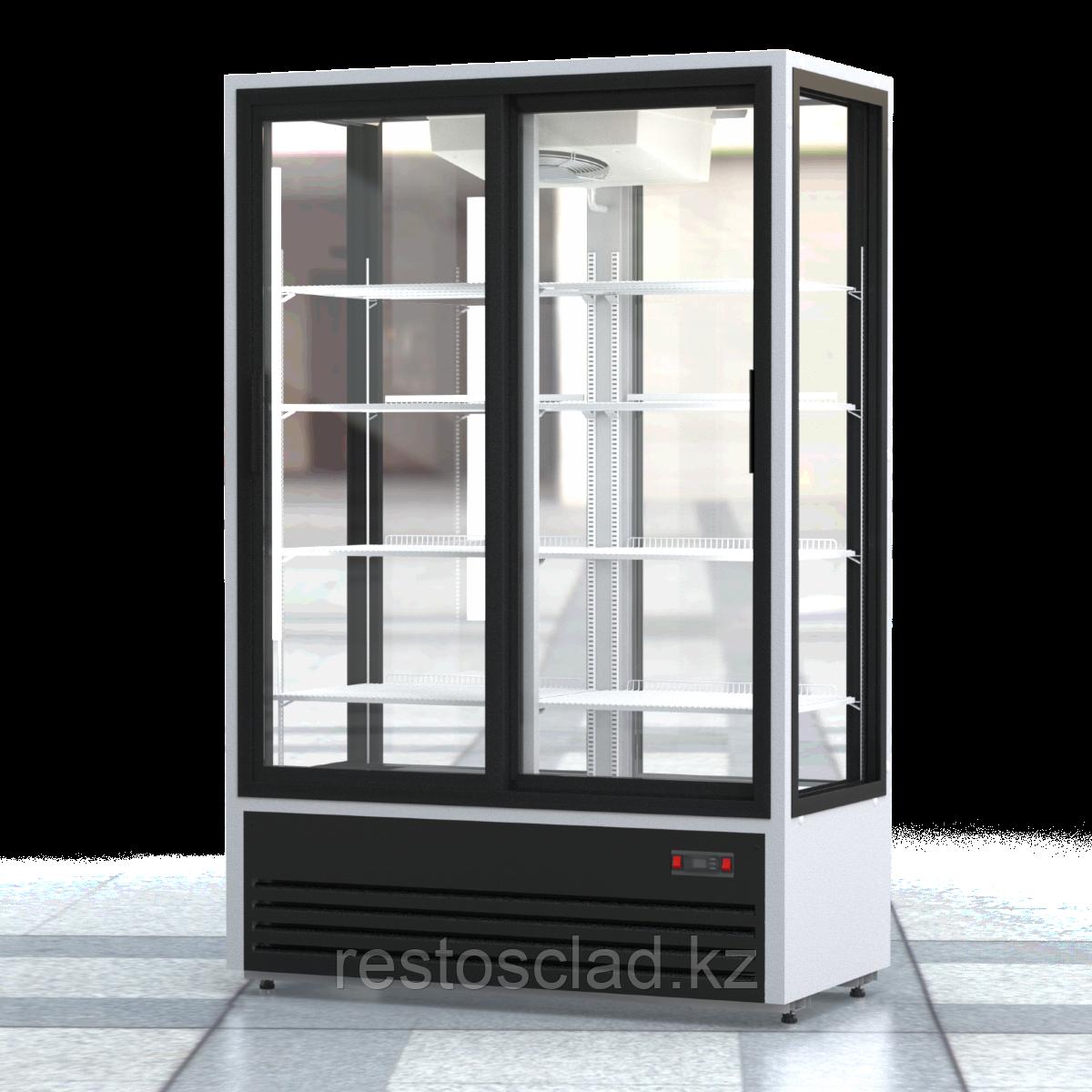 Шкаф холодильный ПРЕМЬЕР ШВУП1ТУ-1,12К4 (двери-купе, остекление с четырех сторон)