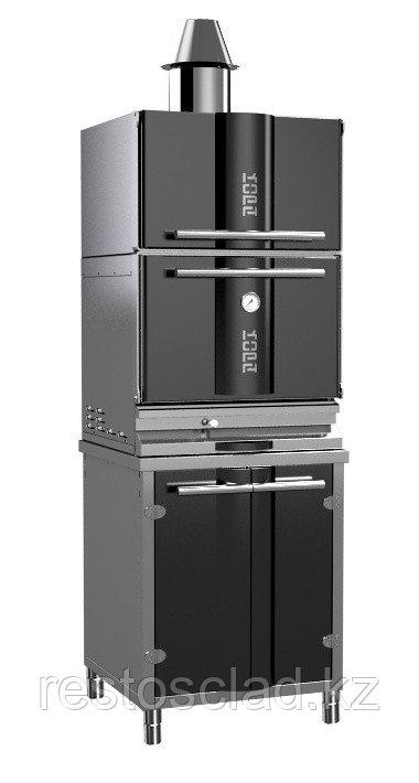 Гриль-печь на углях KOPA 400SC с тепловым шкафом на подставке