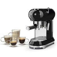 Кофемашина эспрессо Smeg ECF-01BLEU (Черный), фото 3
