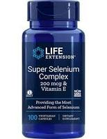 Суперкоплекс селена + витамин Е, Selenium complex, Life Extension. США 100 капсул