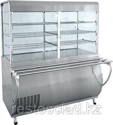 Прилавок-витрина холодильный ABAT «Патша» ПВВ-70М-С-ОК