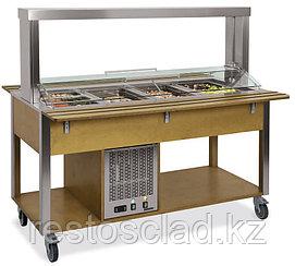 Стол Шведский охлаждаемый MetalCarrelli (защитное стекло подвижное) [6900.M]