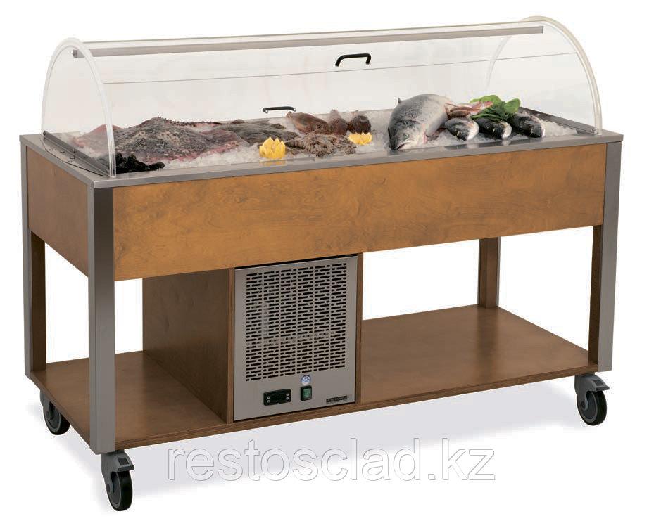 Стол MetalCarrelli для выкладки «рыбы на льду» [6930]