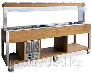 Стол Шведский комбинированный MetalCarrelli (защитное стекло статичное) [6920]