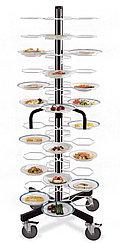Тележка-шпилька MetalCarrelli на 48 тарелок (180 мм и 240 мм) [3008]