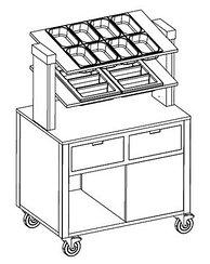 Прилавок для столовых приборов MetalCarrelli [6900 A20]
