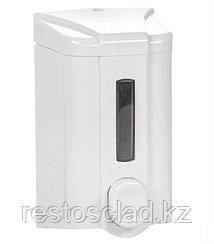 Диспенсер для жидкого мыла с индикатором 500 мл бело-серый [S2]