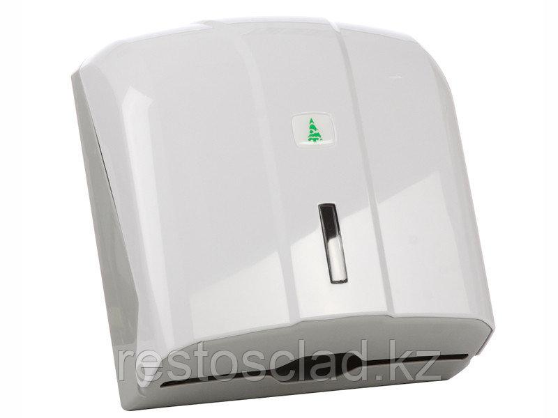 Диспенсер для листовых полотенец бело-серый [KH300]
