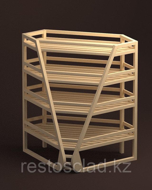 Стеллаж хлебный угловой №015 1000х1000 мм