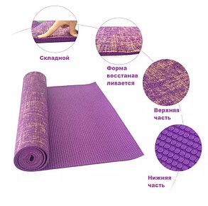 Йога мат джутовый коврик для фитнеса (размеры: 61*183*0,6 см), фото 2