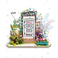 """Robotime Интерьерный конструктор """"Миниатюрный дом Diy: Вход в сад"""""""