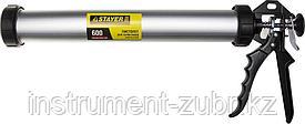 """Пистолет для герметика STAYER """"PROFESSIONAL"""" 0673-60, закрытый, алюминиевый корпус, 600мл"""