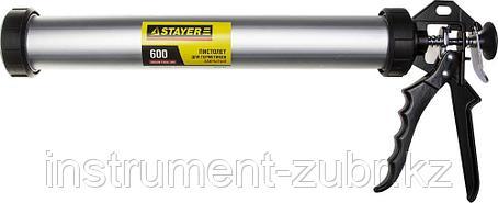 """Пистолет для герметика STAYER """"PROFESSIONAL"""" 0673-60, закрытый, алюминиевый корпус, 600мл, фото 2"""
