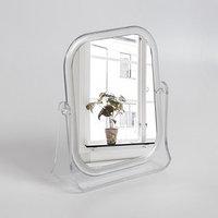 Зеркало настольное, зеркальная поверхность  15,5 x 18 см, цвет прозрачный