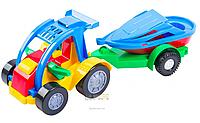 Машина-багги с прицепом и лодкой