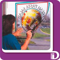 Печать на прозрачной самоклеющейся виниловой пленке. Широкоформатная, сольвентная, 720 dpi