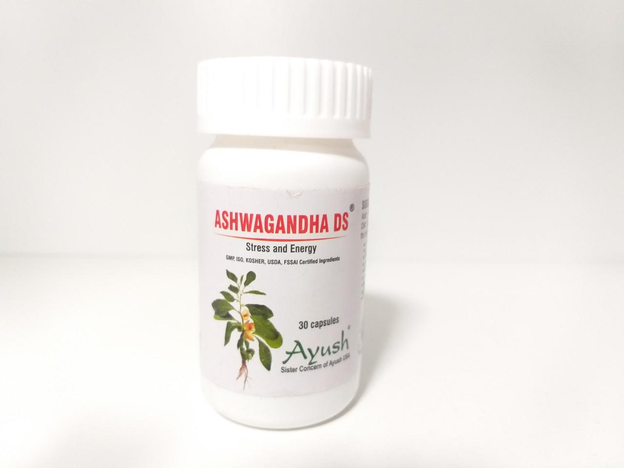 Ашваганда  DS , 60 капсул, Ashwagangha DS, Ayush