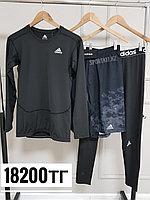 Рашгард комплект 3в1 Adidas черный, фото 1