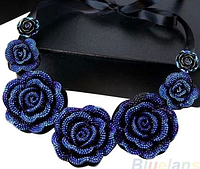 """Колье """"Синие розы"""", фото 1"""