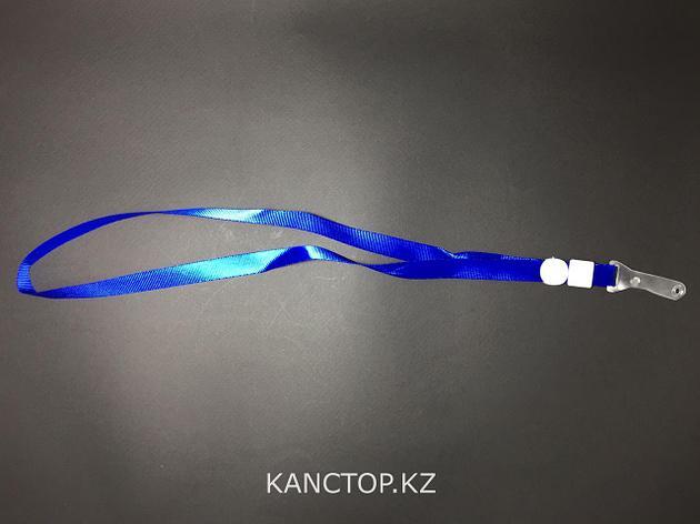 Лента для бейджика широкая синяя., фото 2