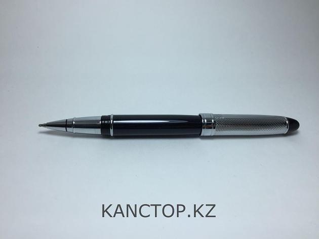 Ручка шариковая подарочная черная глянцевая, фото 2