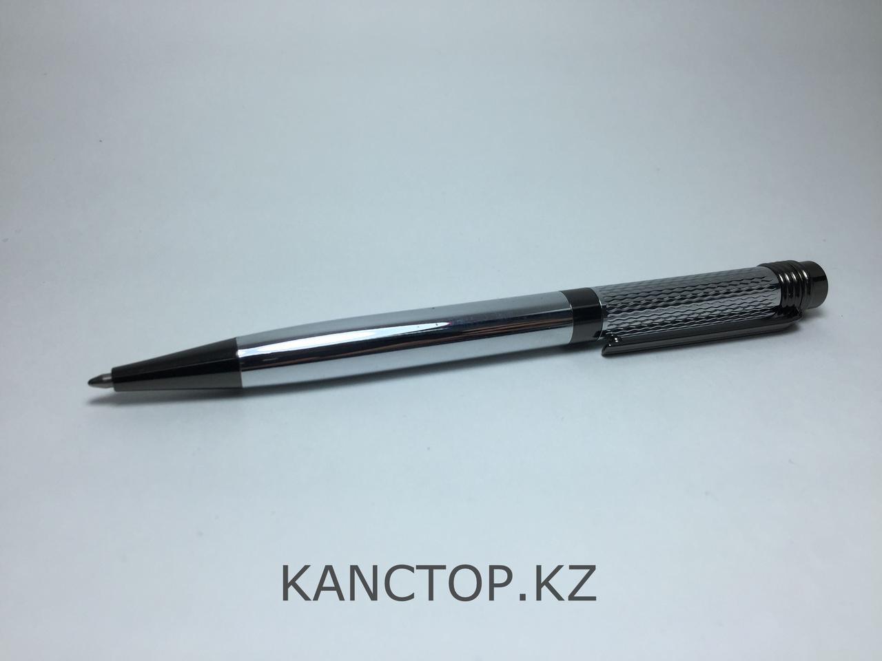 Ручка капиллярная подарочная серебристая с черными элементами