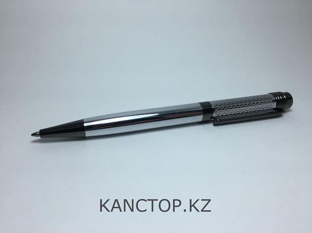 Ручка капиллярная подарочная серебристая с черными элементами, фото 2