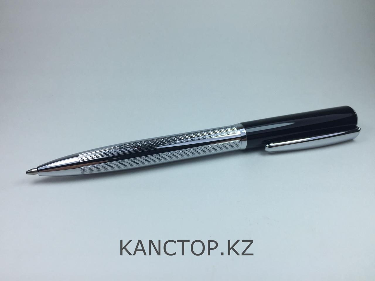 Ручка шариковая подарочная серебристая