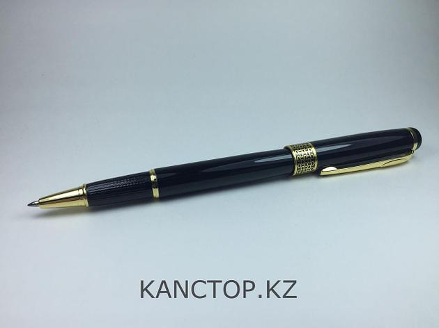Ручка подарочная черная с золотыми элементами, фото 2