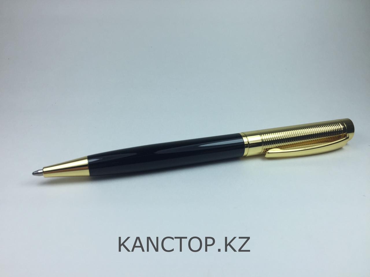 Ручка шариковая подарочная черно-золотая