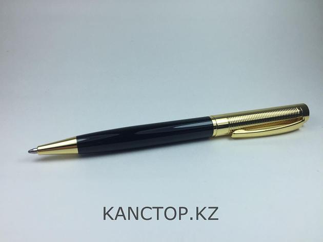 Ручка шариковая подарочная черно-золотая, фото 2
