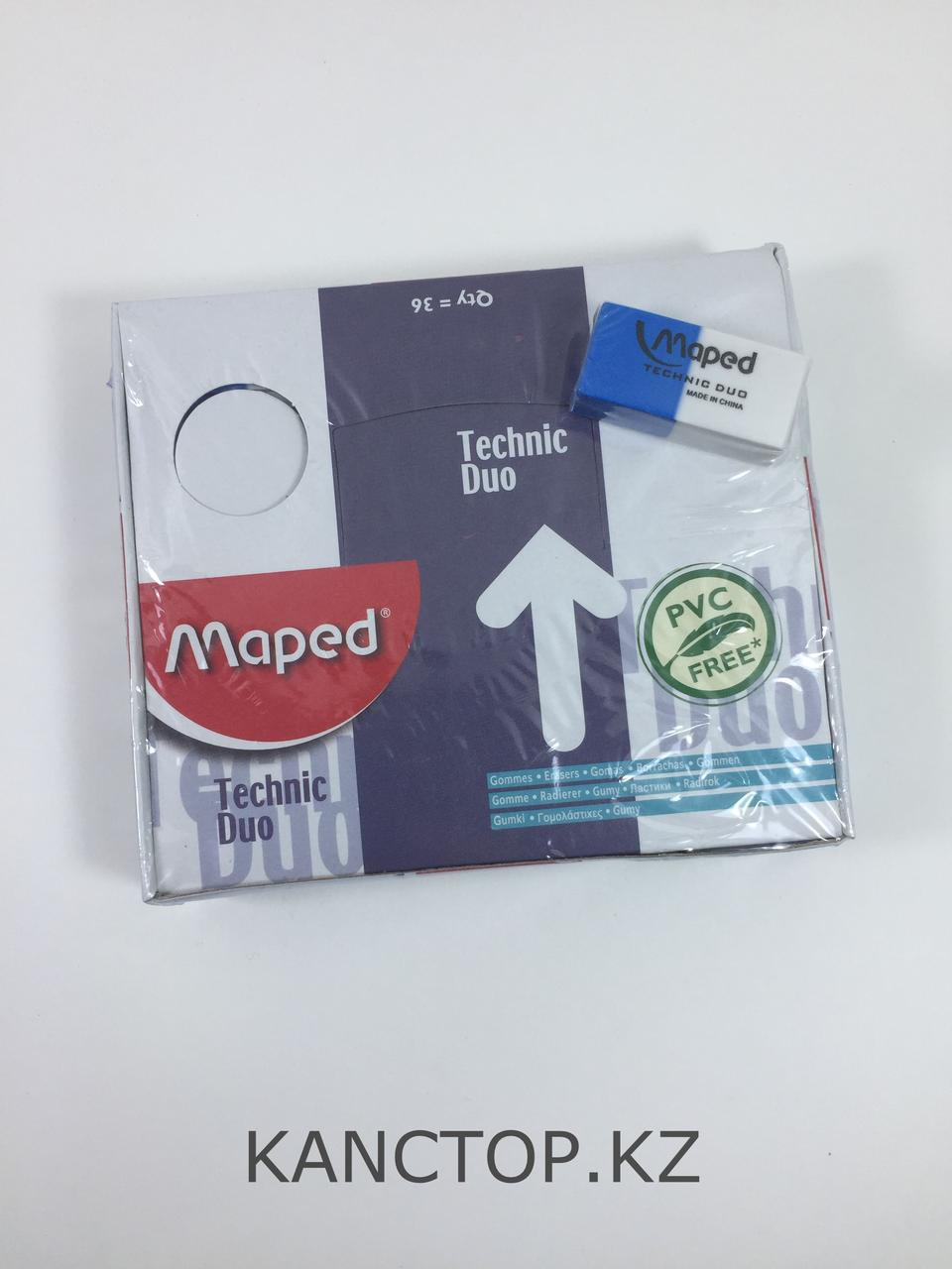 Ластик резинка Maped Technic Duo бело-синяя