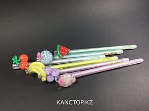 Ручки стирающиеся тонкие, фрукты 2