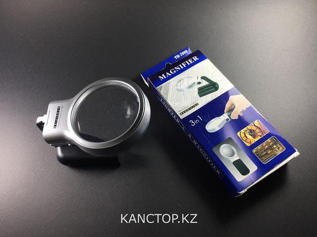 Лупа раскладная Magnifier с подсветкой 70 мм, фото 2