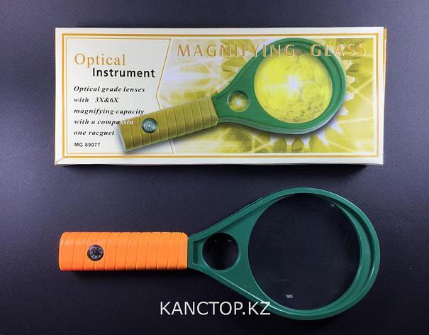 Лупа ручная Magnifier с компасом 90 мм, фото 2