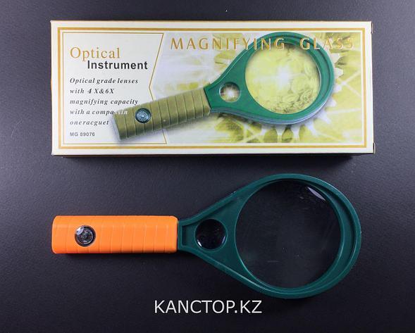 Лупа ручная Magnifier, с компасом 65мм, фото 2