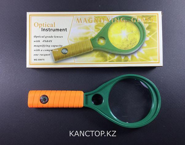 Лупа ручная Magnifier, с компасом 75 мм, фото 2