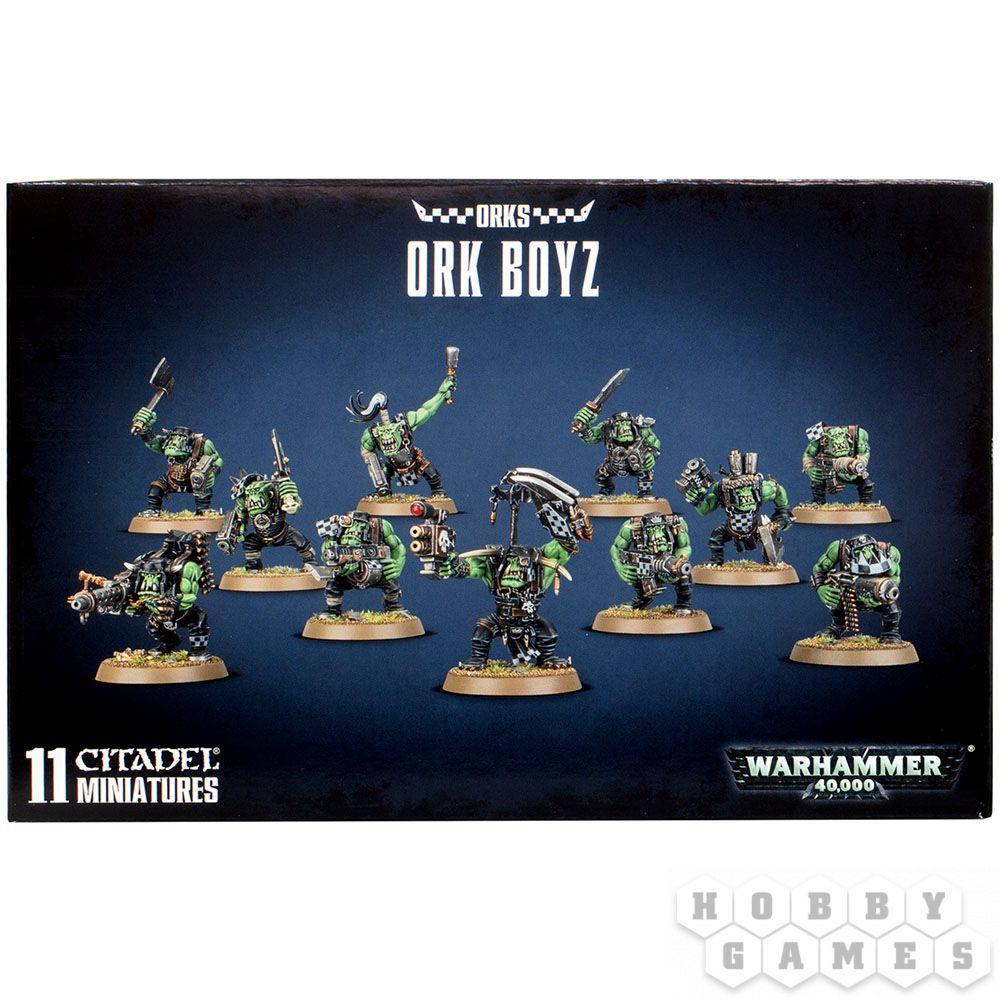 """МИНИАТЮРЫ ВАРХАММЕР 40000: Набор """"Орки-бойцы (Ork Boyz)"""" (малый набор)"""