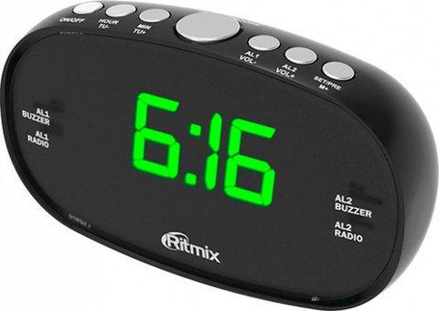 Радиочасы электронные Ritmix RRC-616 с питанием от сети (Черный)