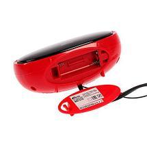 Радиочасы электронные Ritmix RRC-616 с питанием от сети (Красный), фото 3