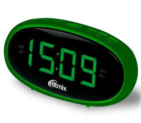 Радиочасы электронные Ritmix RRC-616 с питанием от сети (Зеленый), фото 2