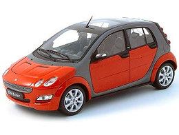 1/18 Kyosho Коллекционная машинка Smart Roadster Купе, красный
