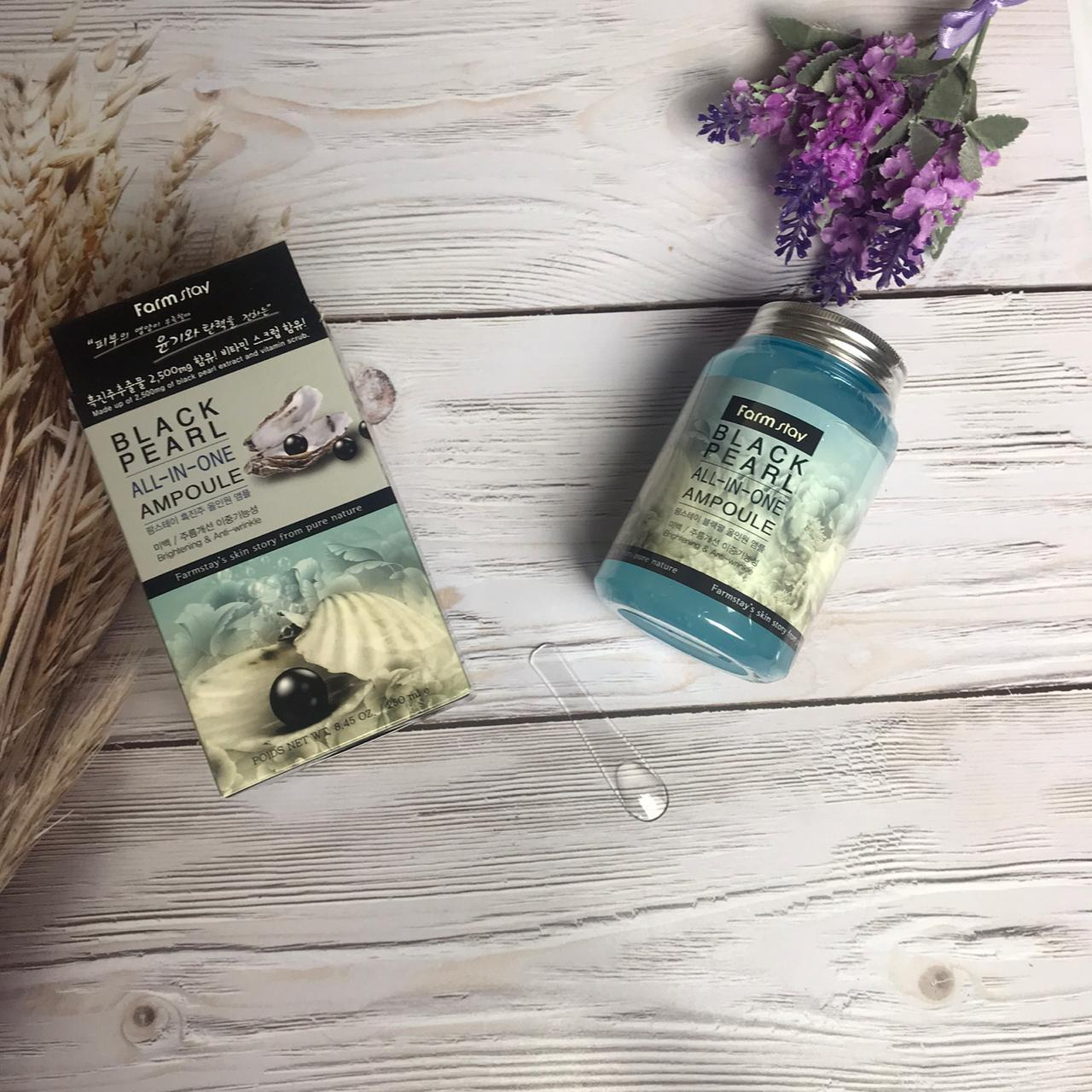 Сыворотка для лица Farm stay black pearl all in one ampoule